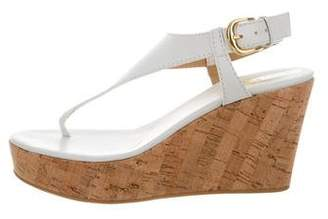 Barneys New York Barney's New York Leather Wedge Sandals