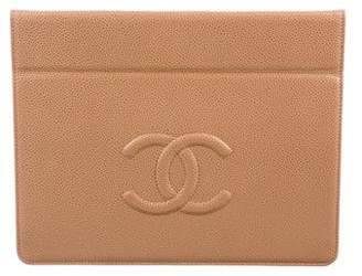 Chanel Caviar Timeless iPad Case