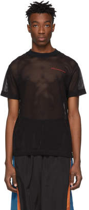 Alexander Wang Black Cotton Mesh T-Shirt