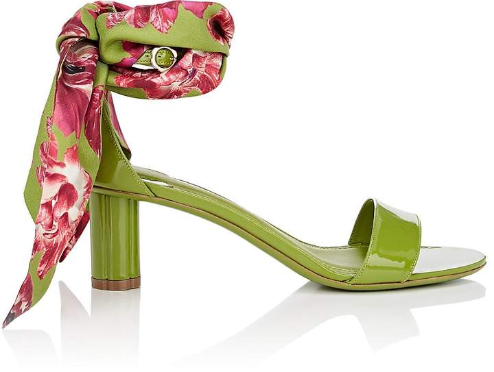 Salvatore Ferragamo Women's Scarf-Tie Patent Leather Sandals