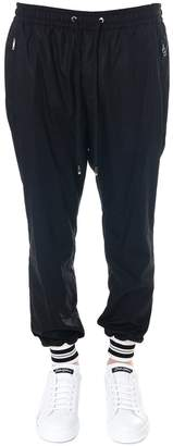 Dolce & Gabbana Black Cotton Striped Cuffs Pants