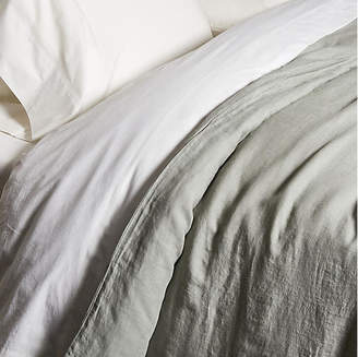 One Kings Lane Matteo For Washed Linen Duvet Cover - Gray
