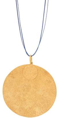 Pippa Small Turquoise Mountain - Rangin Gold Vermeil Disc Necklace - Womens - Gold