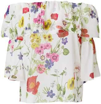 Blugirl floral print ruffled blouse