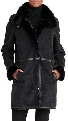 Women's Lauren Ralph Lauren Faux Shearling Coat $360 thestylecure.com