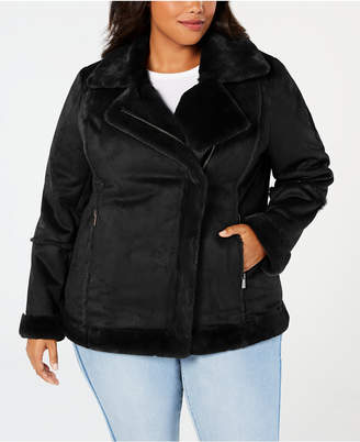 Style&Co. Style & Co Plus Size Faux-Shearling Moto Jacket