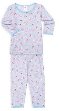 Little Girl's & Girl's Two-Piece Pig Pajama Set
