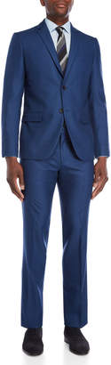 American Designer Bright Blue Solid Two-Piece Suit