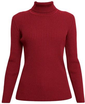 Rumour London Mia Red Ribbed Turtleneck Sweater