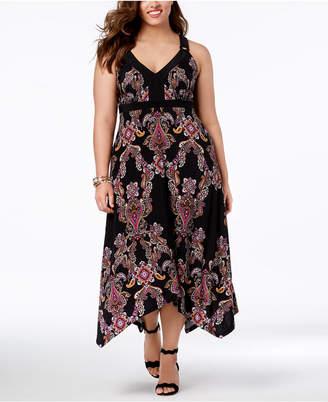 INC International Concepts I.n.c. Plus Size Handkerchief-Hem Maxi Dress, Created for Macy's