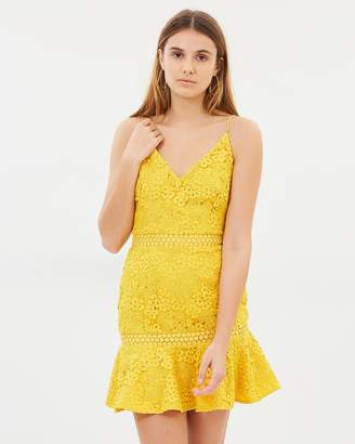 94b9505487 Yellow Lace Overlay Dresses - ShopStyle Australia