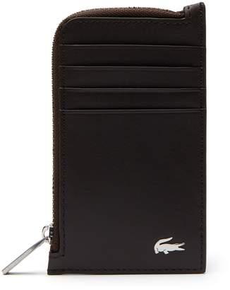 Lacoste Men's Fitzgerald Leather Zip Card Holder