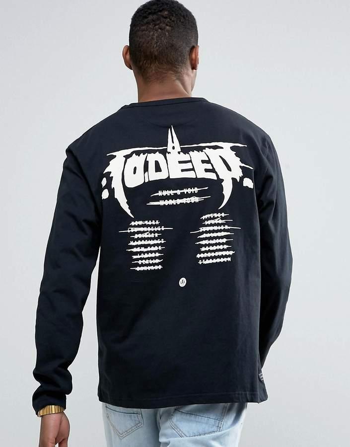 10.Deep10 Deep Long Sleeve T-Shirt With Tour Back Print