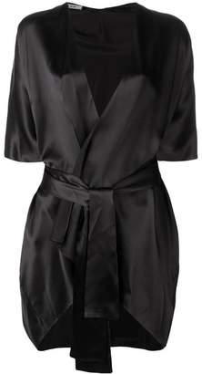 Fisico open silk kimono