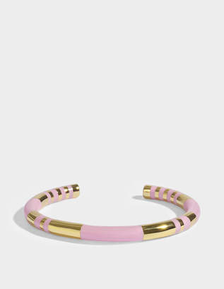 Aurelie Bidermann Positano Bracelet in Baby Pink 18K Gold-Plated Brass