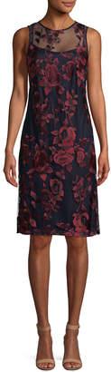 Donna Ricco Floral Lace Sheath Dress