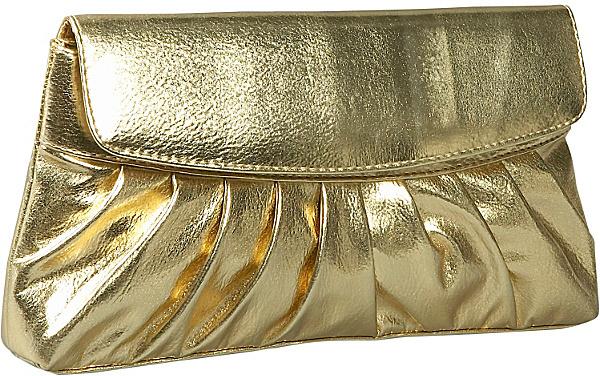 Coloriffics Pleated Smooth Metallic Evening Bag