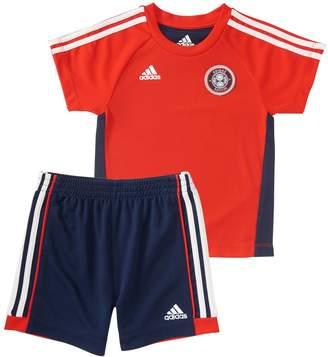adidas Toddler Boy Hat Trick Soccer Graphic Tee & Shorts Set