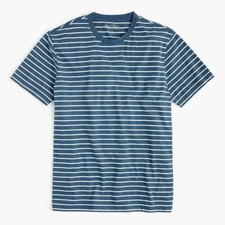 J.Crew Mercantile Broken-in T-shirt in blue heather stripe