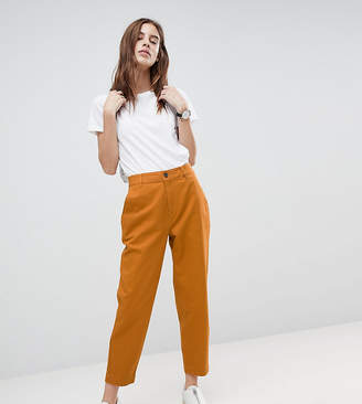 Asos DESIGN mom chinos in ochre
