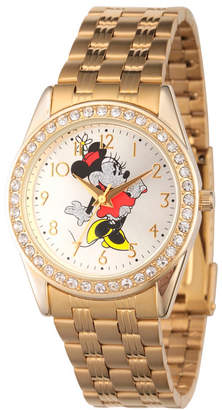 EWatchFactory Disney Minnie Mouse Women Gold Alloy Glitz Watch