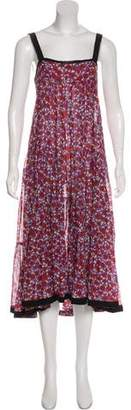 Clements Ribeiro Floral Print Midi Dress