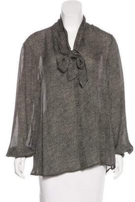 A.L.C. Silk Striped Blouse