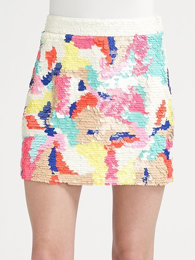 Tibi Begonia Sequined Skirt