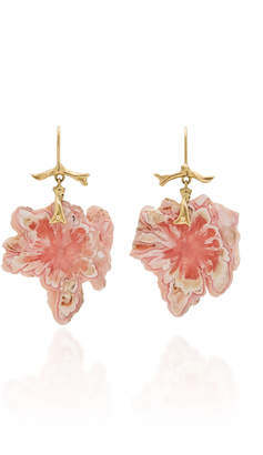 Annette Ferdinandsen M'O Exclusive: Rhodochrosite Snowflake Branch Earrings