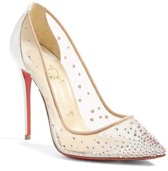 8ee03f25bac Christian Louboutin Follies Strass Pointy Toe Pump