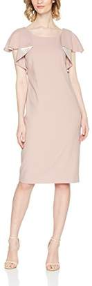 Jacques Vert Women's Ruffle Sleeve Dress Party
