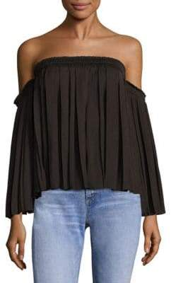 Elizabeth and James Emelyn Pleated Off-The-Shoulder Top