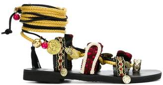 Mabu coin strappy sandals