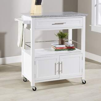 Andover Mills Snow Kitchen Island with Granite Top