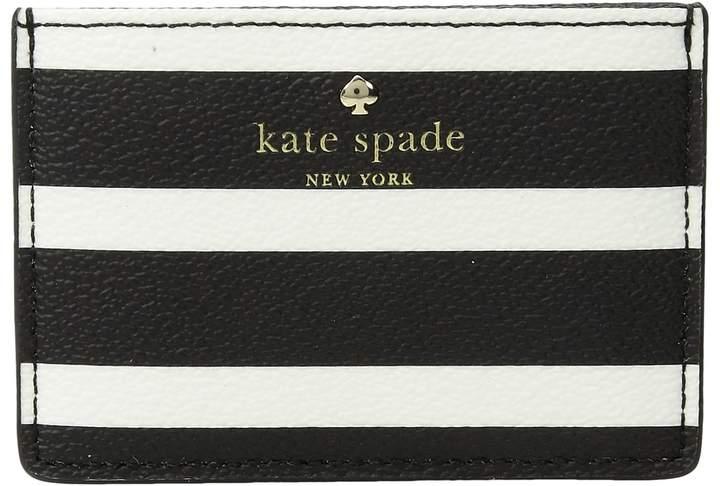 Kate Spade New York - Hyde Lane Stripe Card Holder Wallet