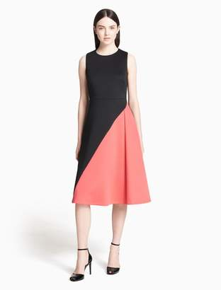 Calvin Klein colorblock fit + flare dress