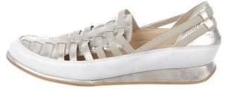 Stuart Weitzman Metallic Slip-On Sneakers