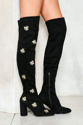 Nasty Gal Sorry to Bug Ya Thigh-High Boot