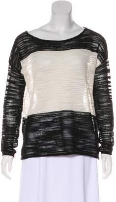 Alice + Olivia Stripped Long Sleeve Sweater