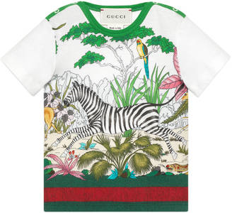 Baby Savannah print cotton t-shirt $145 thestylecure.com