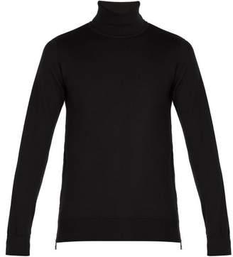 Balmain Embossed Coin Roll Neck Sweater - Mens - Black