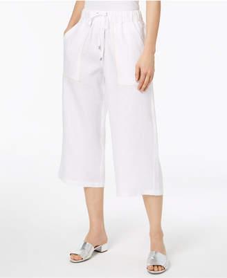 DKNY Cropped Linen Utility Pants