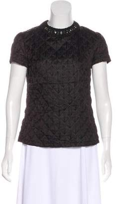 Lanvin Quilted Short Sleeve Top
