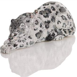 """Judith Leiber Couture Crystal Encrusted Clutch """"Wild Cat"""""""