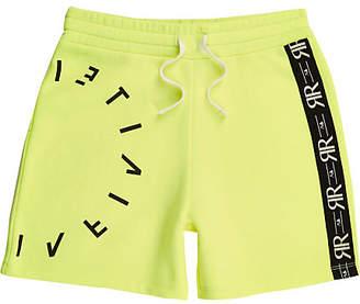 River Island Boys RI Active neon yellow jersey shorts
