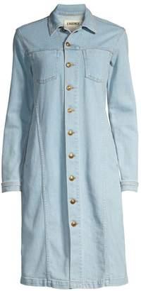 L'Agence Vienna Long Denim Jacket