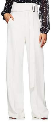 Derek Lam Women's High-Waist Crepe Wide-Leg Trousers