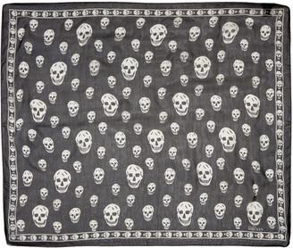 Alexander McQueen Black Silk Skull Scarf $295 thestylecure.com