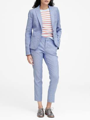 Banana Republic Petite Classic-Fit Linen-Cotton Blazer