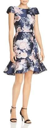 Eliza J Cap Sleeve Faux Wrap Dress